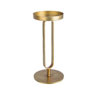 Sfesnic metal auriu Adhira Ø12 cm 25h