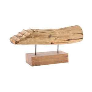 Decoratiune de masa din lemn mango natur Naele 61 cm x 16 cm x 29.5 h