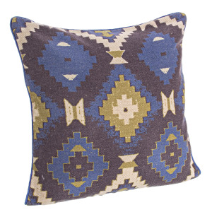 Perna decorativa bumbac Blue 45 cm x 45 cm