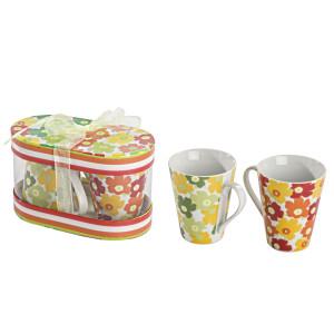 Set doua cani ceramice cutie cadou Ø 9 x 10h