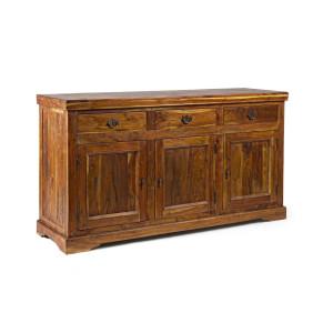Comoda 3 sertare si 3 usi din lemn natur Chateaux 160 cm x 50 cm x 90 h