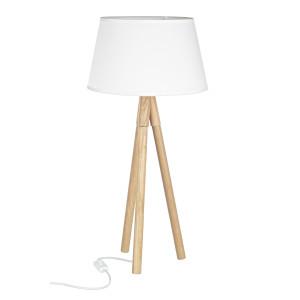 Lampadar lemn alb Roma Ø33x69h
