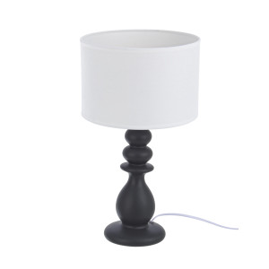 Veioza decorativa ceramica alb negru Roma Ø24x50h
