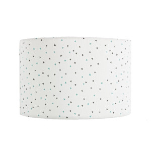 Abajur textil alb Optic Ø 30 cm x 20 h