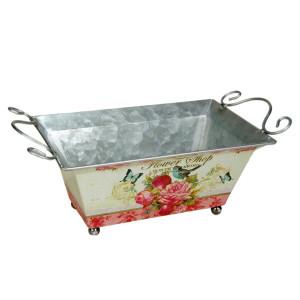 Ghiveci pentru flori Roses metal 39 cm x 20 cm