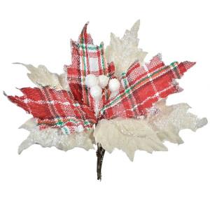 Ornament brad cu clips Craciunita Rustique 22 cm x 13 cm