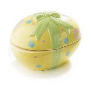 Ou Paste decorativ galben cu capac