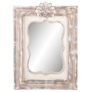 Oglinda decorativa perete lemn 46*5*63 cm