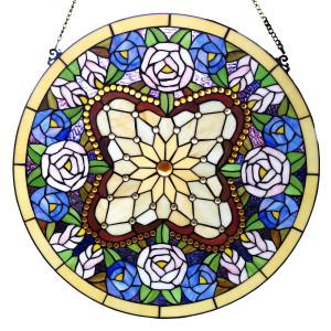 Vitraliu de perete din sticla Tiffany Ø 60 cm