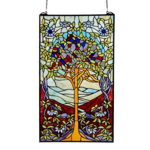 Vitraliu de perete din sticla Tiffany 50 cm x 85 h