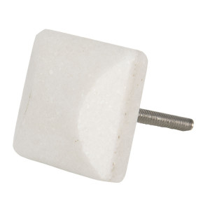 Buton mobila din fier si piatra crem 3 cm x 3 cm