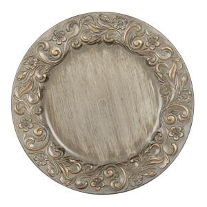 Farfurie din melamina argintie aurie Ø 33 cm x 2 cm