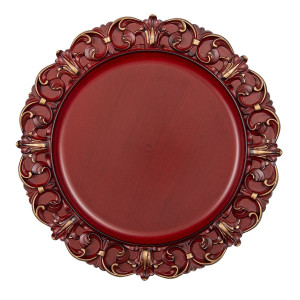 Farfurie din melamina rosu auriu Elegance Ø 33 cm x 2 cm