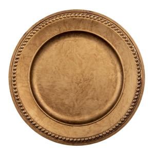 Farfurie din melamina auriu antic patinat Ø 33 cm x 2 cm