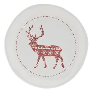 Farfurie din ceramica alba rosie model Ren Ø 20 cm x 3 cm