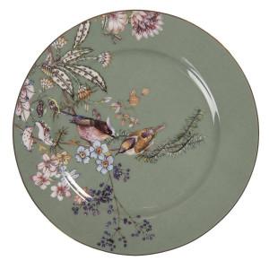 Farfurie din ceramica verde Ø 15 cm x 1 cm