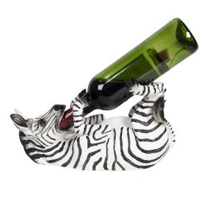 Suport sticla vin din polirasina Zebra 32 cm x 12 cm x 18 h