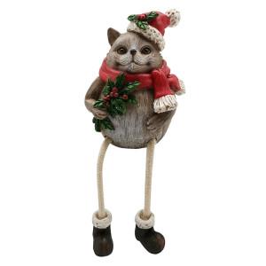 Figurina Arici din ceramica si picioare textil 9 cm x 7 cm x 12 h