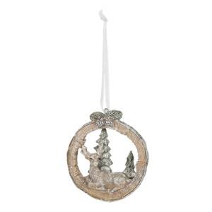 Ornament brad din polirasina model Ren 7 cm x 2 cm x 8 h