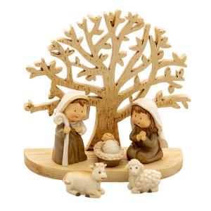 Figurine religioase din polirasina si lemn 11x5x10 cm
