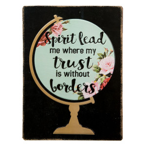 Tablou cu mesaj motivational Spirit Lead 26 x 1 x 35 cm