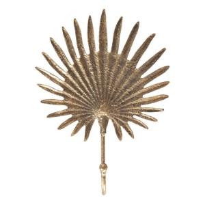 Cuier metal auriu vintage 16 cm x 5 cm x 22 cm