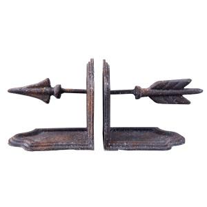 Set 2 suporturi carti metal negru vintage 25 cm x 8 cm x 14 cm