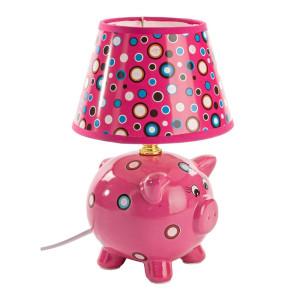 Veioza decorativa pentru copii Piggy roz 25H