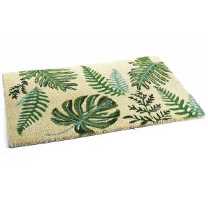 Covoras intrare casa antiderapant fibre cocos cauciuc Leaf 60 x 40 cm