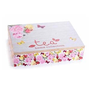 Cutie ceai lemn 6 compartimente Tea cm 24 x 17 cm x 6 H