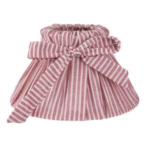 Abajur veioza textil rosu alb Ø 22x13 cm E14
