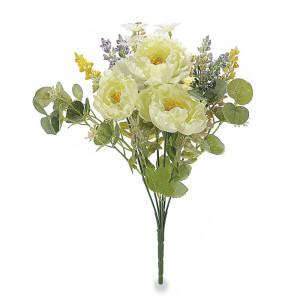 Buchet peonia artificiale albe 32 cm