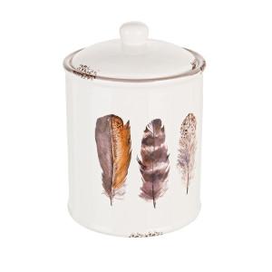 Borcan ceramic pentru condimente Ø13x18h