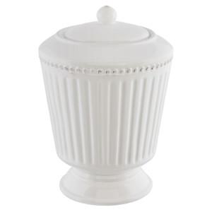 Borcan ceramica alb Elegance Ø 16*22 cm - 2 L