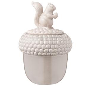 Borcan ceramic decorativ condimente gri Veverita Ø 13*20 cm - 0.75L