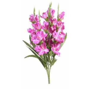 Buchet de flori artificiale gladiole roz intens 58 H