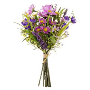 Buchet mix flori artificiale mov 24 cm