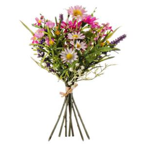 Buchet mix flori artificiale roz 24 cm