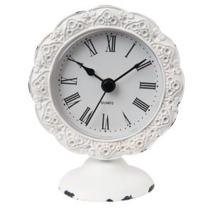 Ceas de masa metal alb Vintage 8*5*10 cm