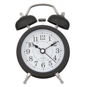 Ceas desteptator metal negru clasic 8*5*12 cm