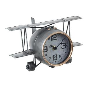 Ceas de masa metal argintiu model Avion 27 cm x 20 cm x 15 h