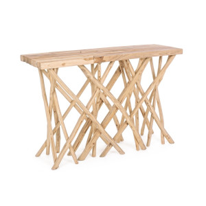 Consola lemn natur Aili 120 cm x 29 cm x 80 h