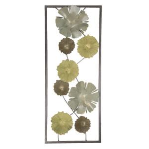 Decoratiune din metal aurie pentru perete Azhira 25x61x5 cm