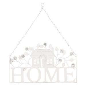 Decoratiune metal alb suspendabila Home 43*51 cm