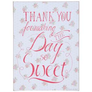 Tablita decorativa suspendabila cu mesaj motivational Thank You 30*1*40 cm