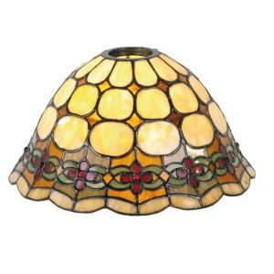 Abajur veioza din sticla si polirasina Tiffany Ø 25 cm x 15 h