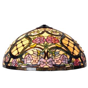 Abajur lustra din sticla si metal Tiffany Ø 50 cm x 26 h