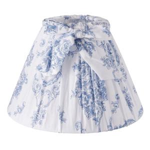 Abajur veioza textil alb albastru Ø 22 cm x 14 cm