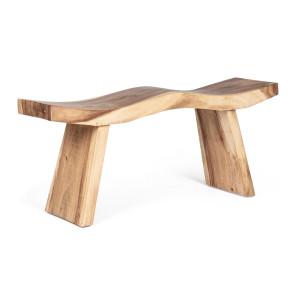 Bancuta din lemn natur Welle 115 cm x 30 cm x 45 h