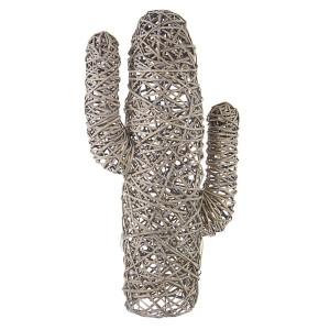 Decoratiune din lemn salcie gri model Cactus...